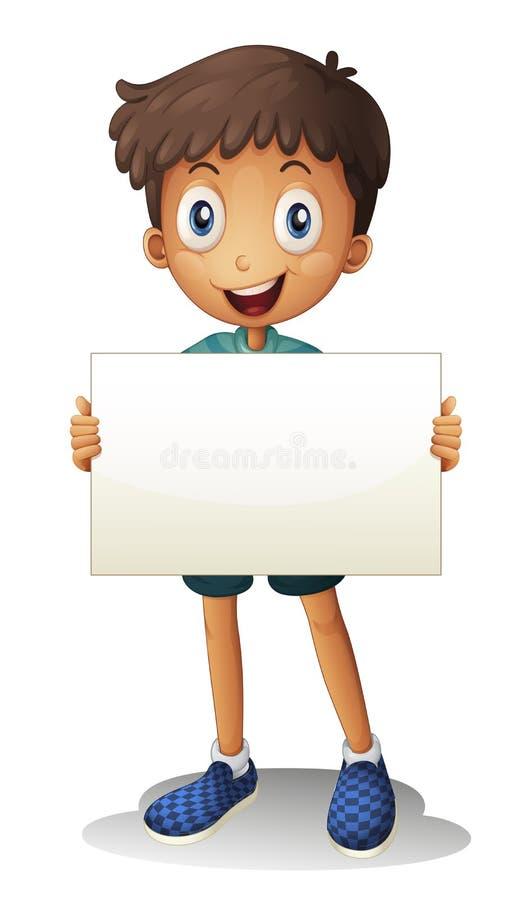 Un garçon avec le livre blanc illustration stock