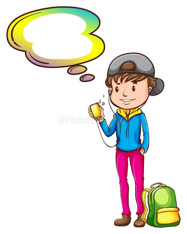 Download Un Garçon Avec Un Calibre Vide De Légende Illustration de Vecteur - Illustration du chapeau, écoutez: 45366216