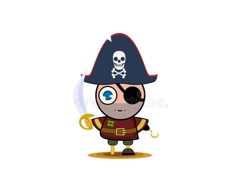 Un garçon dans un costume de pirate Illustration de vecteur illustration stock