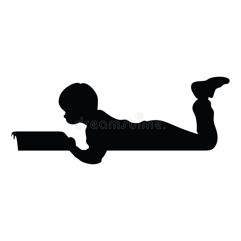 Un garçon lit un fichier eps de livre illustration de vecteur