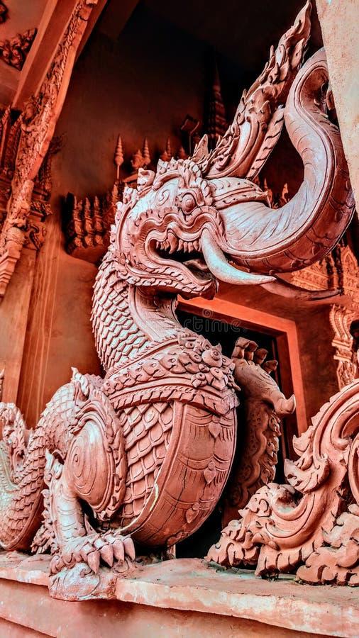 Un gardien du temple bouddhiste photo libre de droits