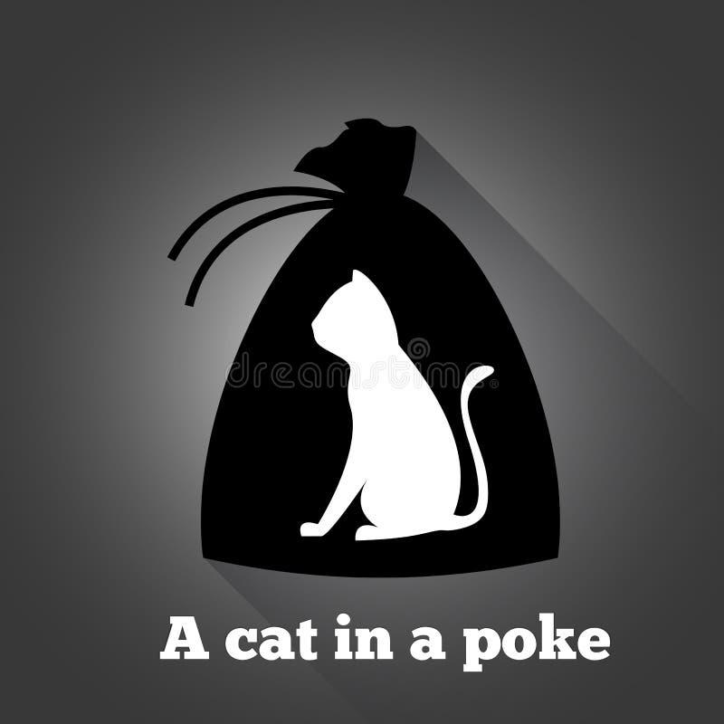 Un gato en un empuje stock de ilustración