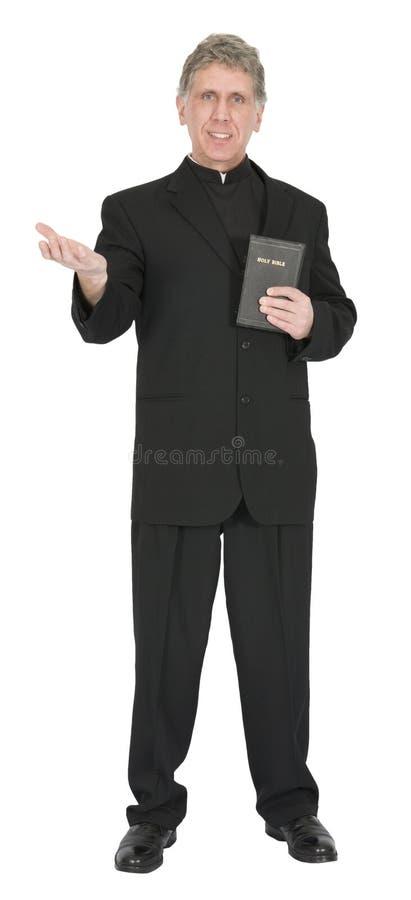 Gentil prédicateur, ministre, pasteur, OIN de sermon de prêtre images libres de droits