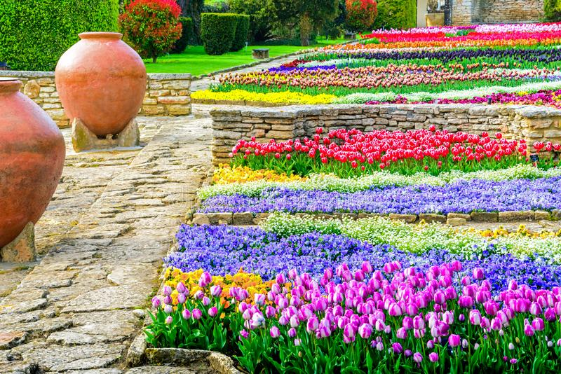Un giardino botanico in Balchik, Bulgaria fotografia stock libera da diritti