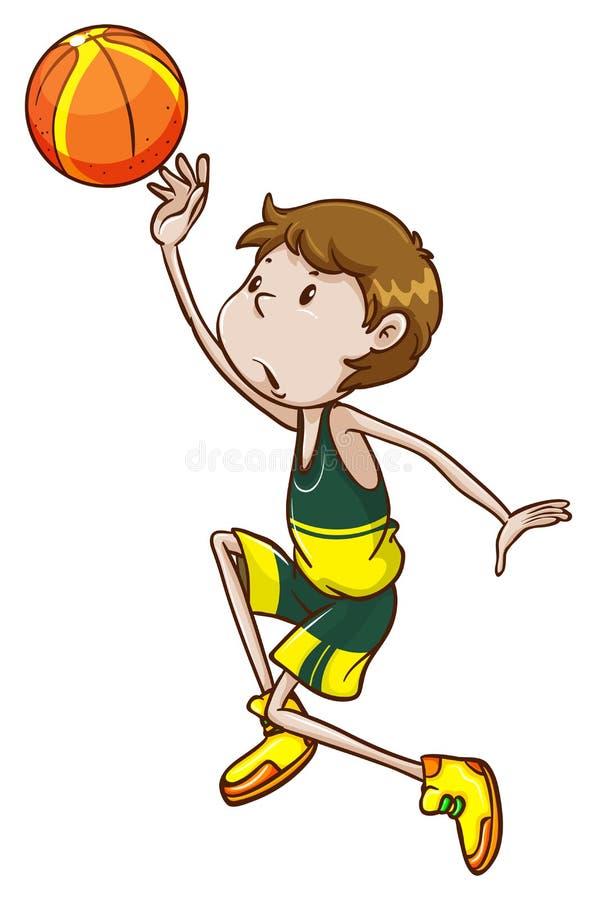 Un giocatore di pallacanestro illustrazione di stock
