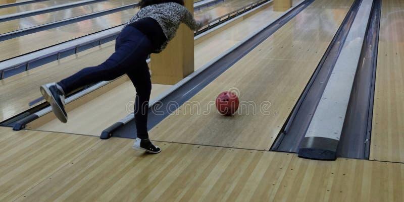 Un gioco del bowling fotografie stock