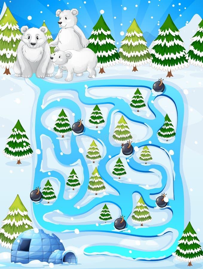 Un gioco del labirinto illustrazione vettoriale