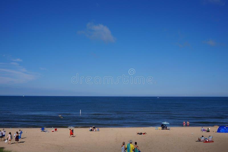 Un giorno alla spiaggia fotografia stock
