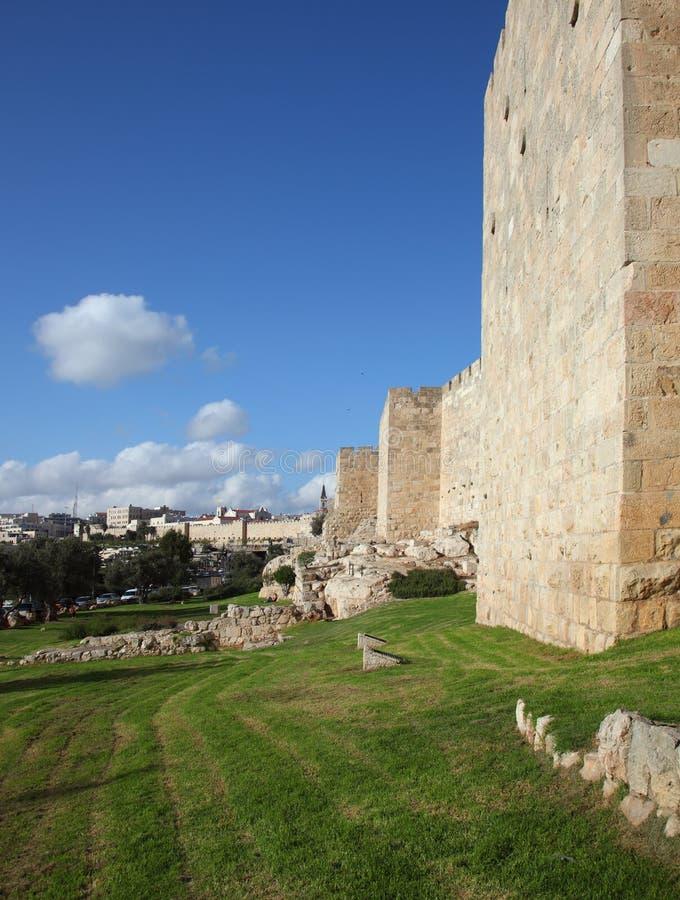 Un giorno pieno di sole bello a Gerusalemme fotografia stock libera da diritti