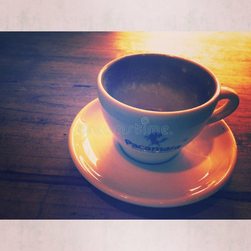 un giorno senza CAFFÈ è come qualcosa senza qualcosa immagini stock libere da diritti