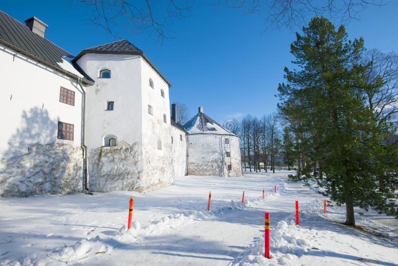 Un giorno soleggiato di febbraio al castello antico dell'Abo La Finlandia, Turku immagini stock libere da diritti