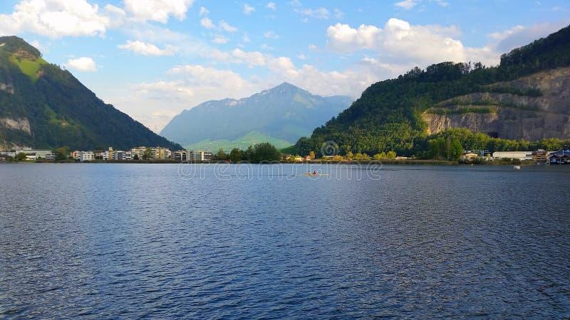 Un giorno sul lucerene del lago fotografie stock