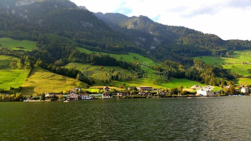 Un giorno sul lucerene del lago fotografia stock libera da diritti