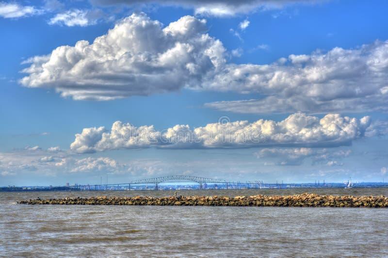 Un giorno sulla baia di Chesapeake fotografie stock
