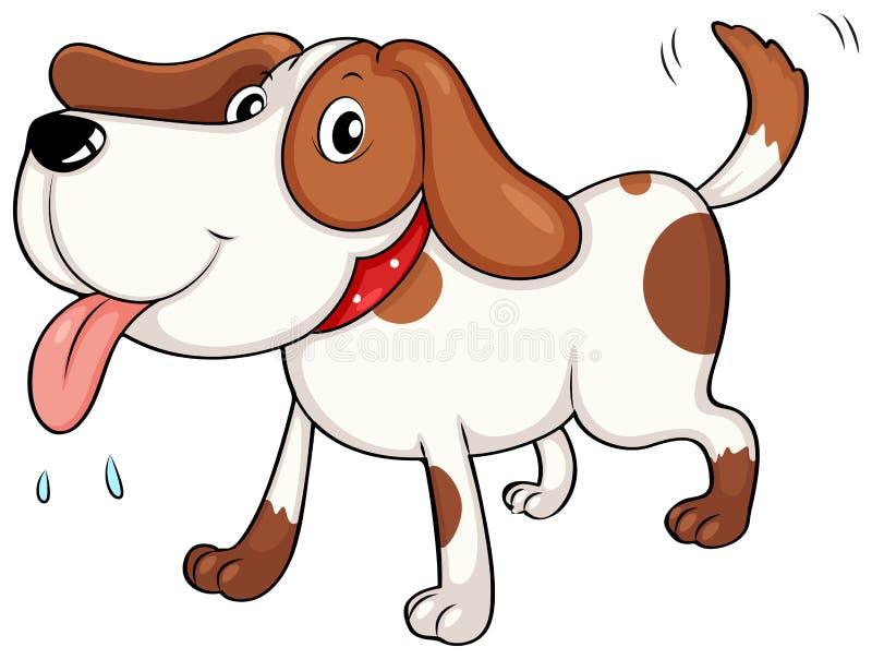 Un giovane cane stanco royalty illustrazione gratis