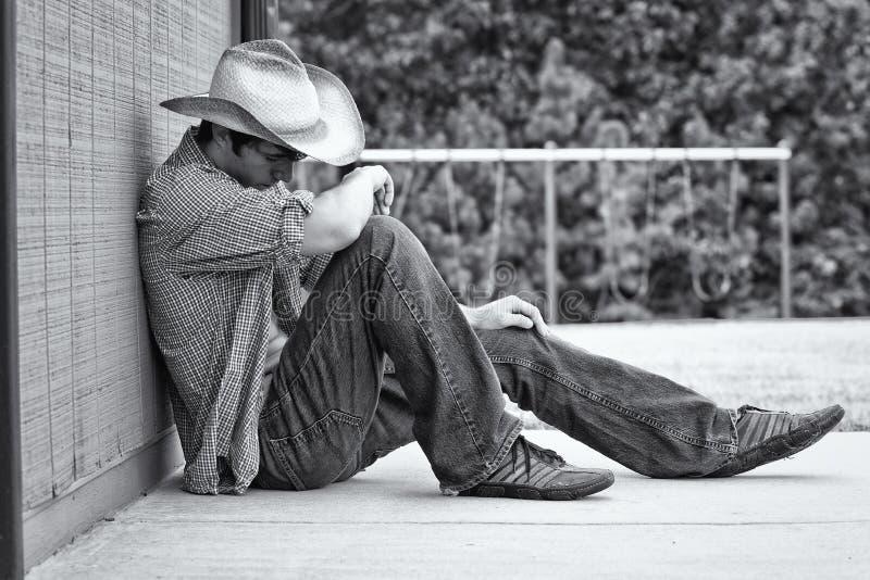 Un giovane cowboy maschio immagine stock