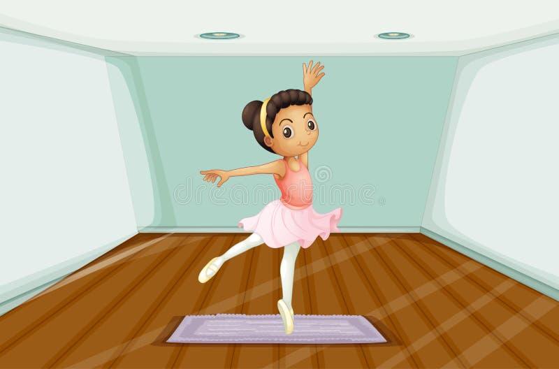 Un giovane dancing del ballerino di balletto sopra la coperta royalty illustrazione gratis
