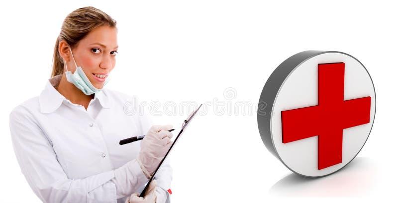 Un giovane medico preoccupantesi illustrazione vettoriale