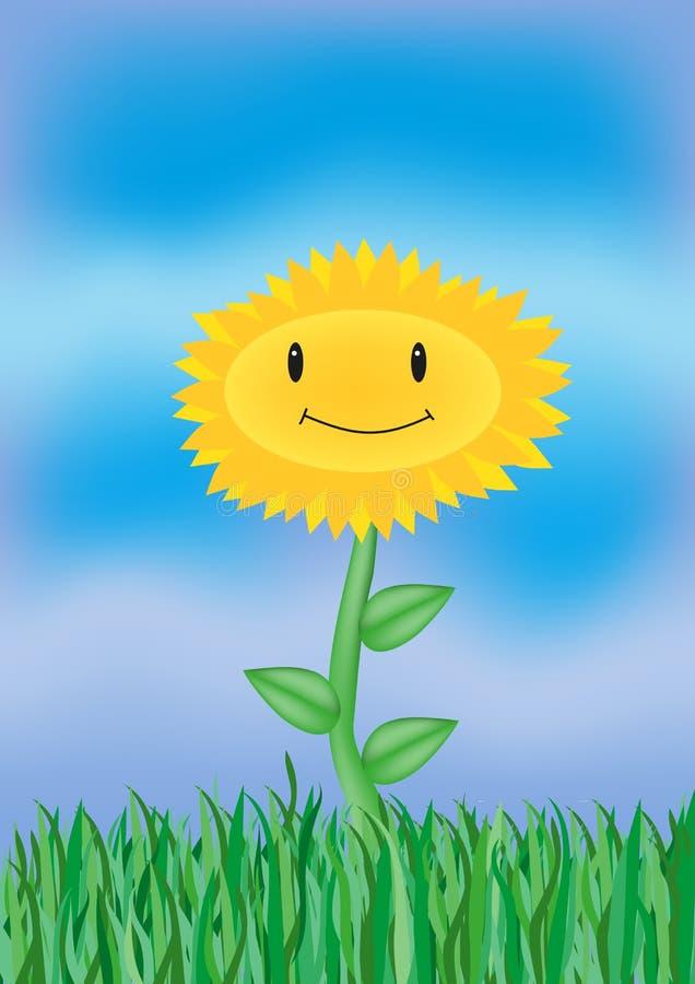 Un girasole sorridente fotografia stock libera da diritti