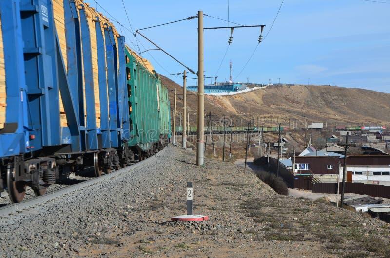 Un giro uscente del treno immagine stock libera da diritti