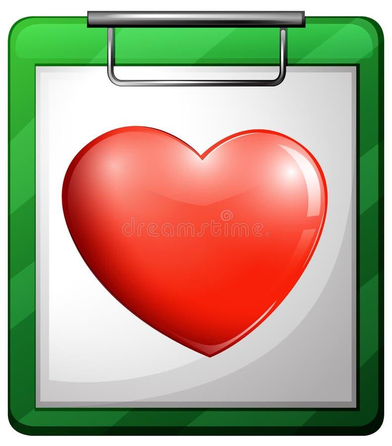 Un grafico dell'infermiere con un cuore illustrazione vettoriale