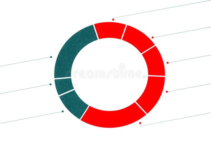 Un grafico a settori diviso immagini stock