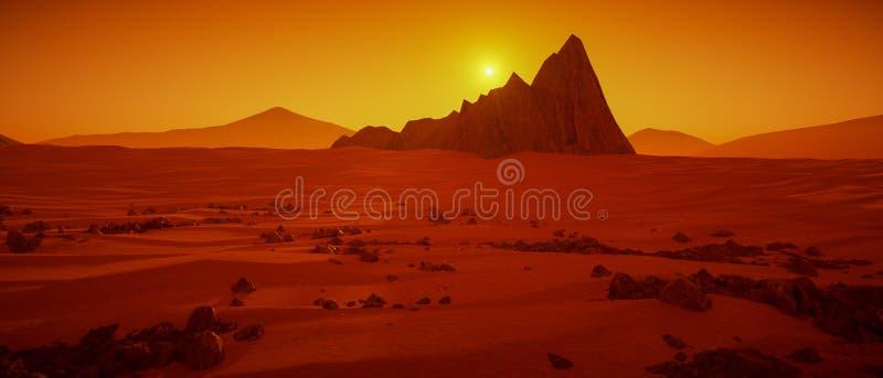 Un gran día en la representación de Marte 3d libre illustration