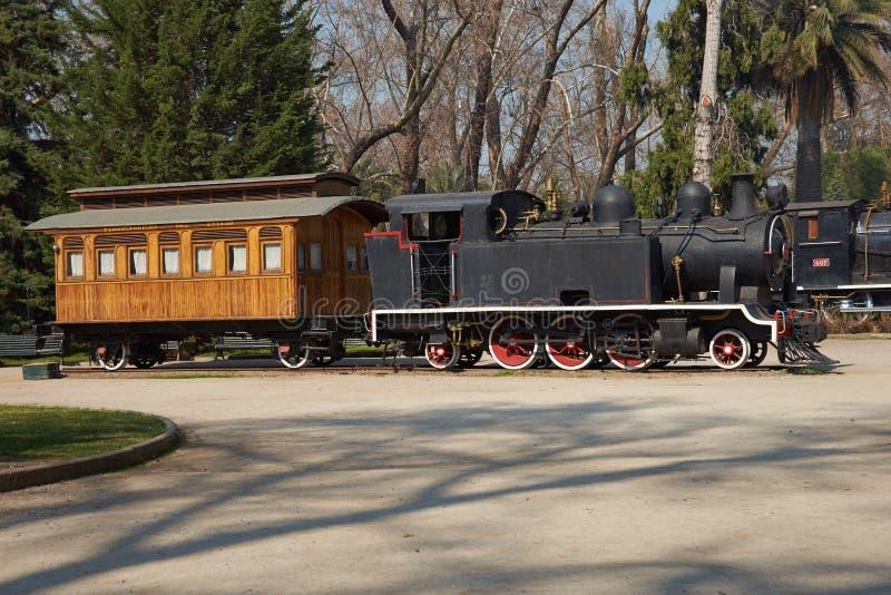 Un gran tren de trabajo viejo del vapor foto de archivo libre de regalías