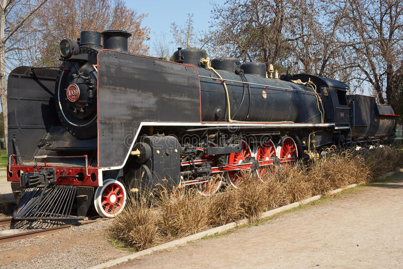 Un gran tren de trabajo viejo del vapor imagen de archivo libre de regalías