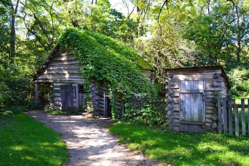 Un granaio pionieristico a nuova Salem in Illinois immagini stock