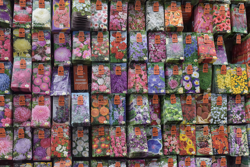Un grand choix de graines de fleur images libres de droits