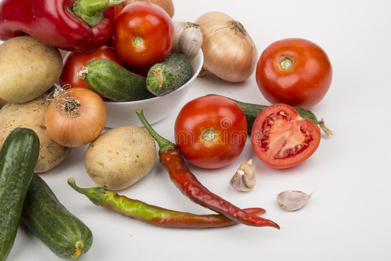 Un grand choix de légumes photos stock