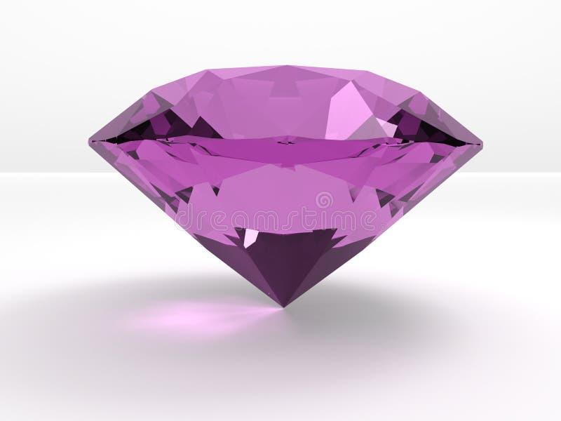 Un grand diamant rose photo stock