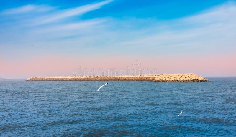 Un grand matin en Mer d'Oman photo libre de droits