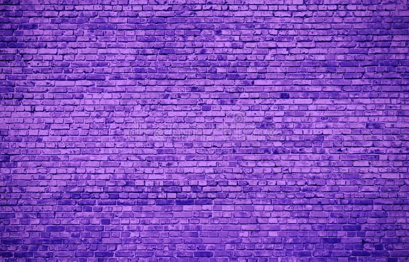 Un grand mur lilas fait de briques illustration libre de droits