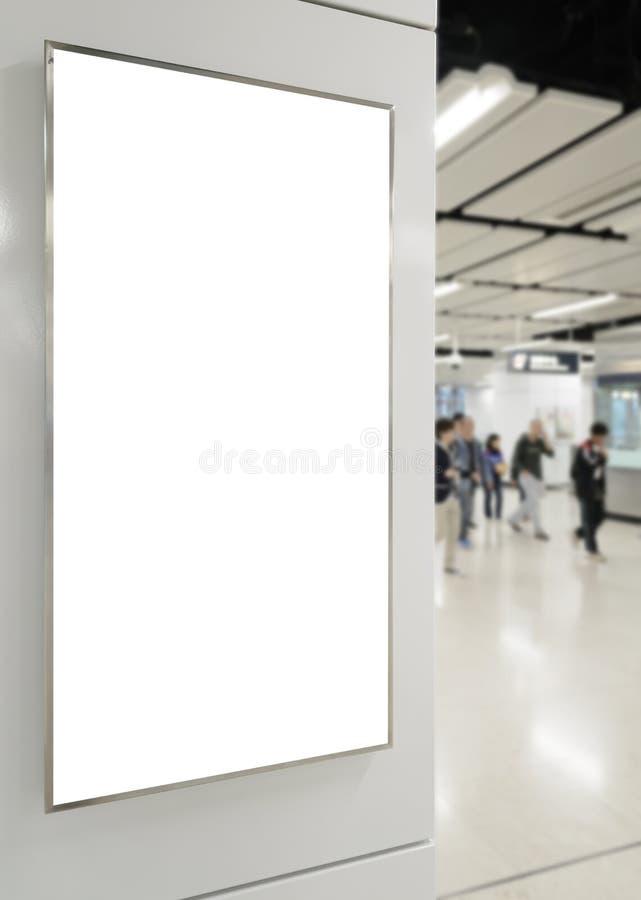 Un grand panneau d'affichage de blanc d'orientation de verticale/portrait photos stock