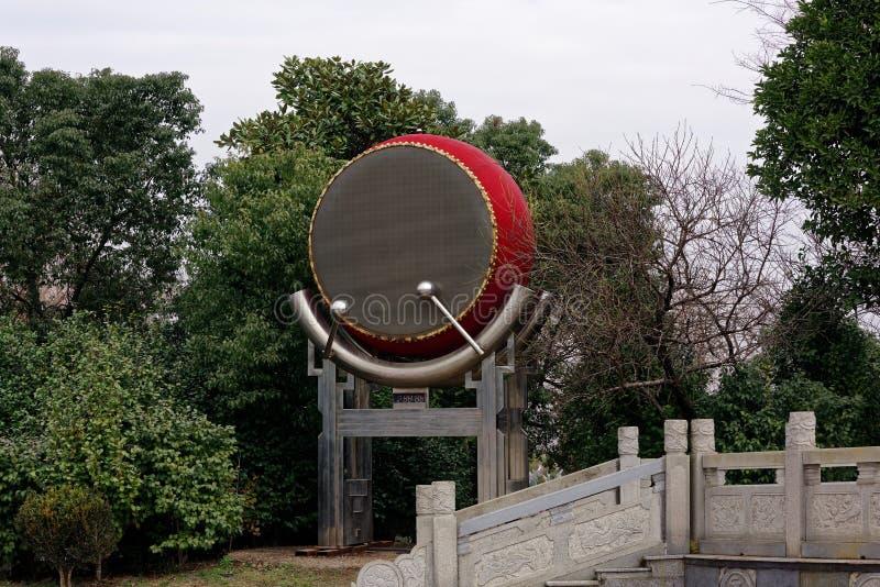 Un grand spectre de tambour-Qingyun photos libres de droits