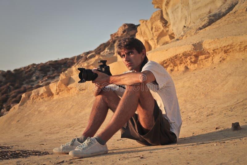 Un grande fotografo fotografia stock