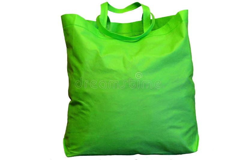 Un grande sacchetto della spesa verde immagini stock