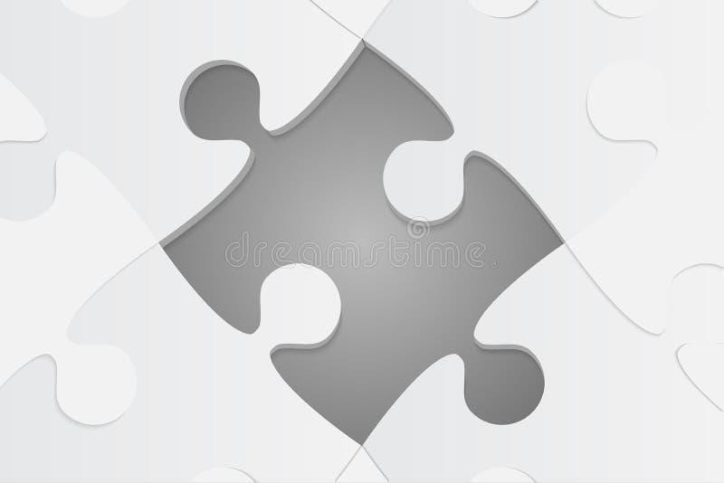 Un Grey Background Puzzle Piece Rompecabezas de rompecabezas libre illustration