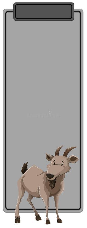 Un gris con el animal de la cabra ilustración del vector