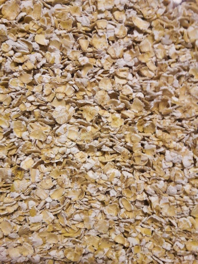 Un groupe de céréale de farine d'avoine dans un verre photos stock