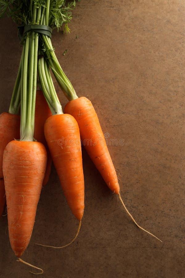 Un groupe de carottes fraîches image libre de droits