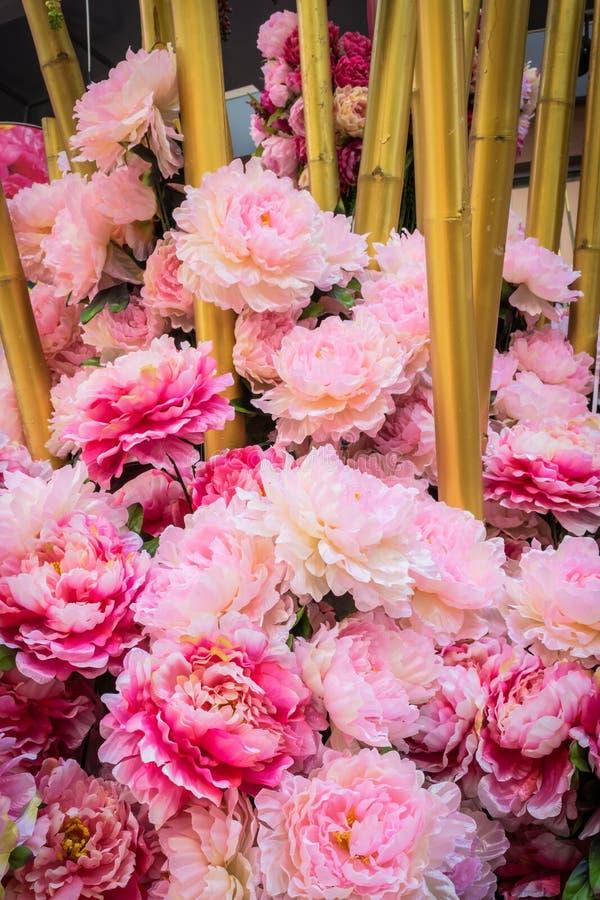 Un groupe de fleur rose photographie stock