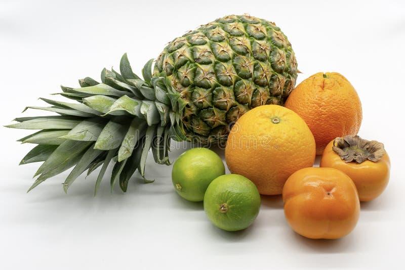 Un groupe de fruits tropicaux image libre de droits