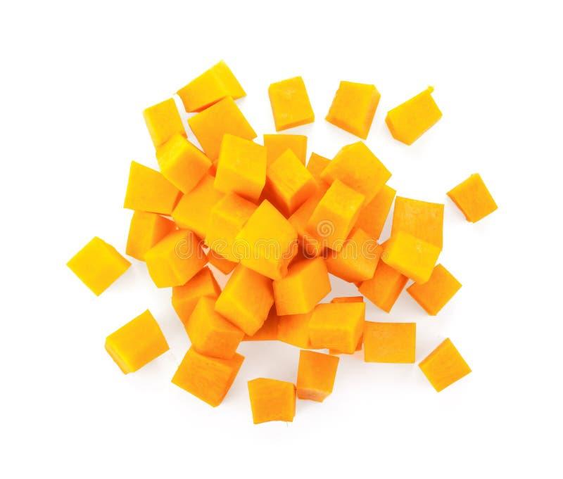Un groupe de morceaux de butternut coupée photo libre de droits