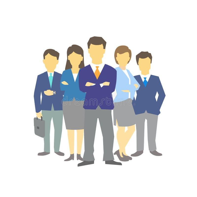 Un groupe de personnes, équipe de travailleurs des hommes d'affaires teamwork Direction d'association de travail Hommes et femmes illustration stock