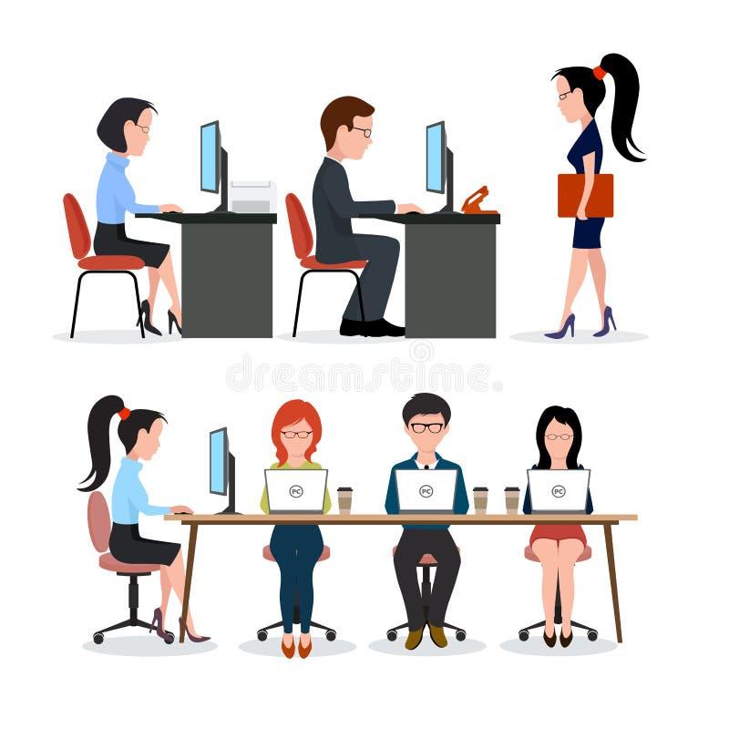 Un groupe de personnes dans le bureau illustration de vecteur