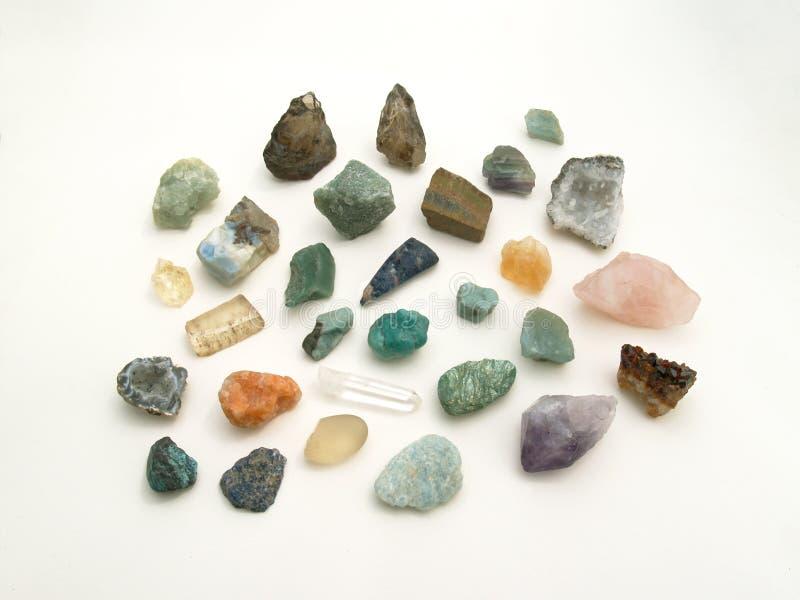 Un groupe de pierres gemmes images libres de droits