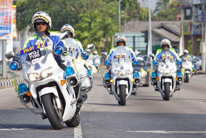 Un groupe de police malaisienne royale photos libres de droits